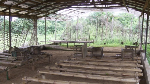 """Church Building by a Village in the """"Interior"""" of Liberia"""